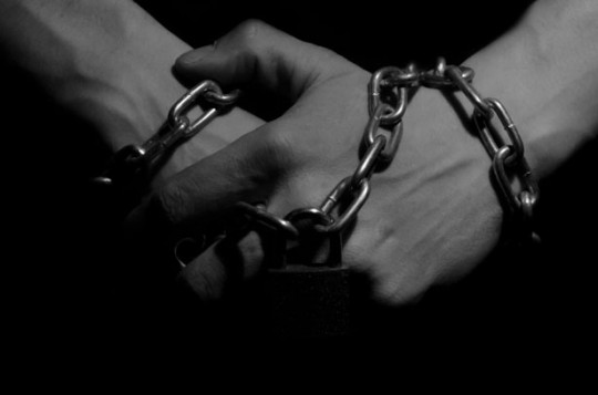 Image of hands in chains