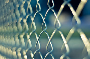 Image of a wire mesh security fence
