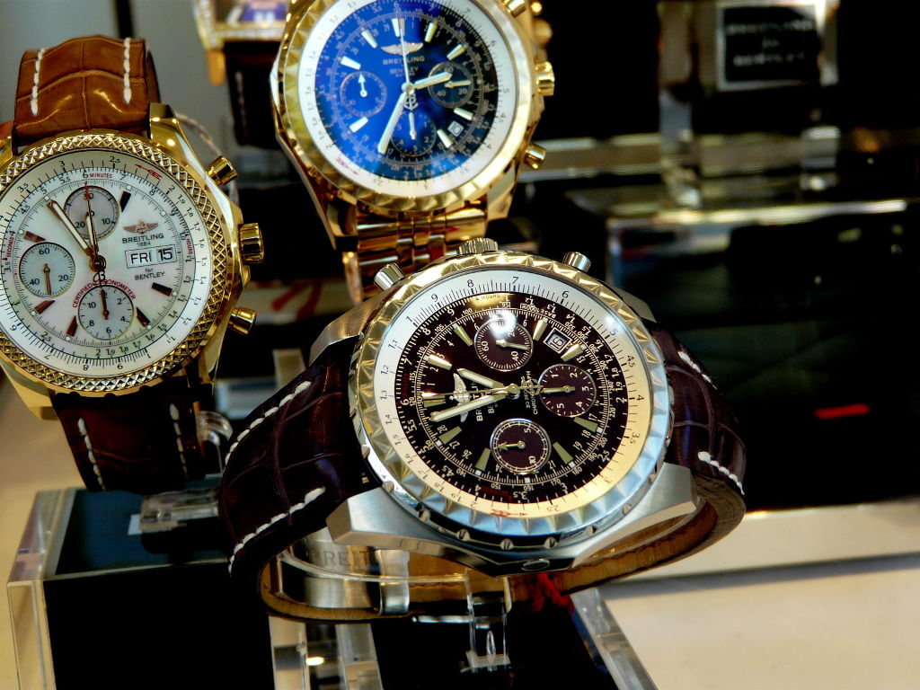 Image of watches on display.