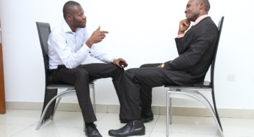 Image of a job applicant and an interviewer