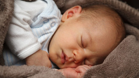 Picture of a sleeping infant