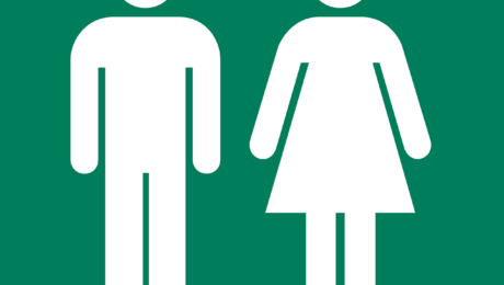 Public Toilets - Male Female Sign